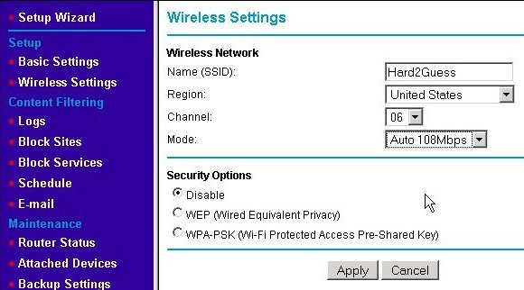 Update WAP's wireless configuration