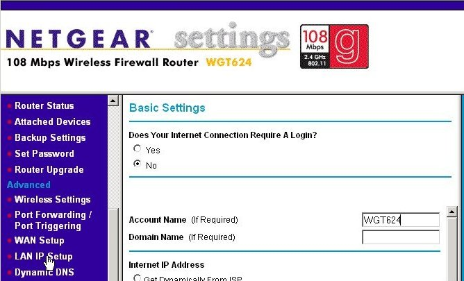 The router's Basic Settings page