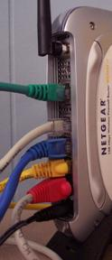 Internet router and cables