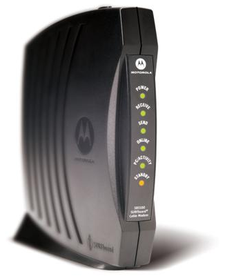 Front of Motorola Surfboard SB5100 cable modem